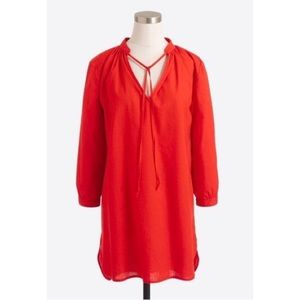 J. Crew Linen Cotton Long Sleeve Tunic Cover Up